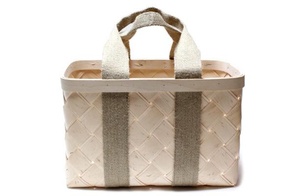 白樺のかごバッグ         ナチュラル Lサイズ