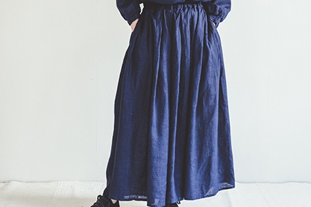 fog linen work       ヘイリースカート / ブルーインディゴ