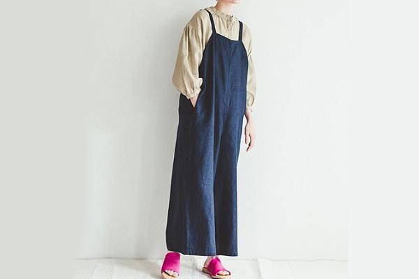 fog linen work       カイリーサロペット / ニュイ