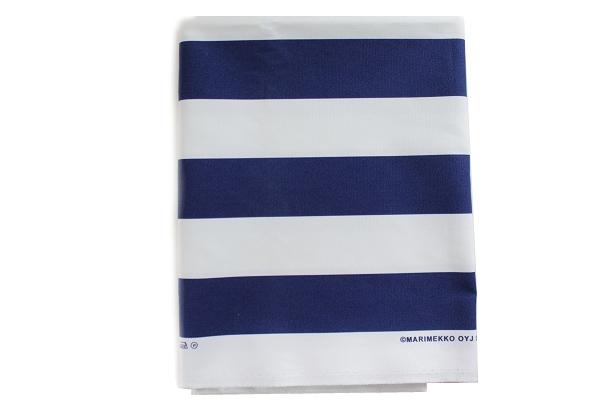 北欧ヴィンテージ         marimekko KORSI コルシ  118cm×150cm (厚地)/ ネイビーブルー×ホワイト