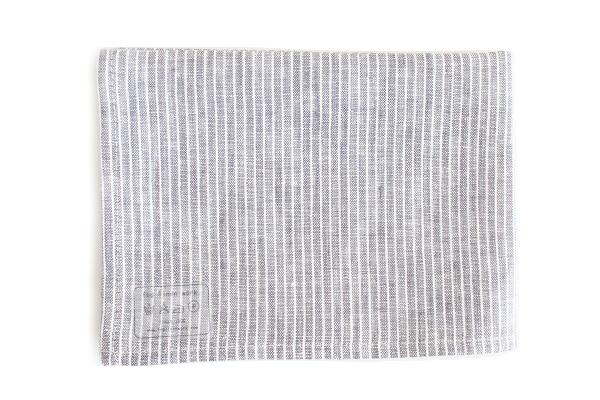 キッチンクロス グレーホワイトストライプ / fog linen work