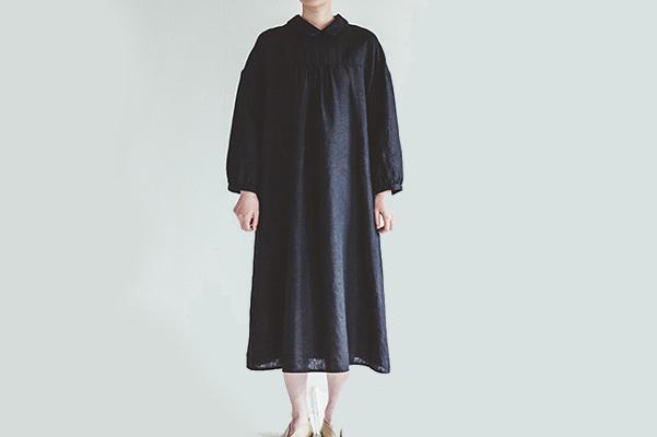 fog linen work       ペイトン ワンピース / ブラック