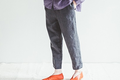 fog linen work       ロビンパンツ / グリーブルー