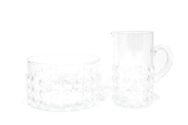 Riihimaen lasi           Grappo クリーマー&シュガーカップ / Nanny Still