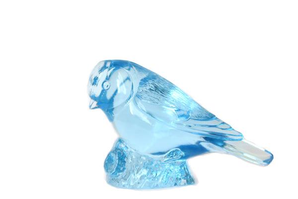Kosta Boda           ガラスの小鳥 ブルー/ WWF モデル