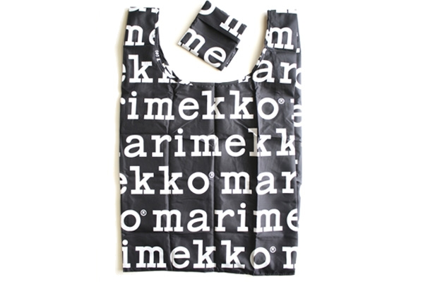 marimekkoマリメッコ      MARILOGO/スマートバッグ(エコバッグ)              ブラック