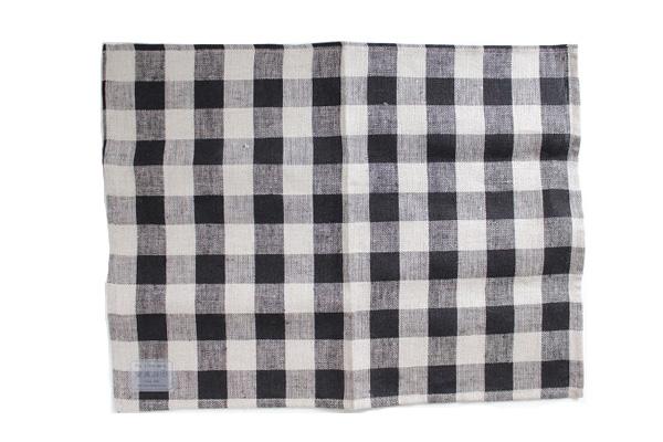 プレイスマット ブラックナチュラルチェック / fog linen work