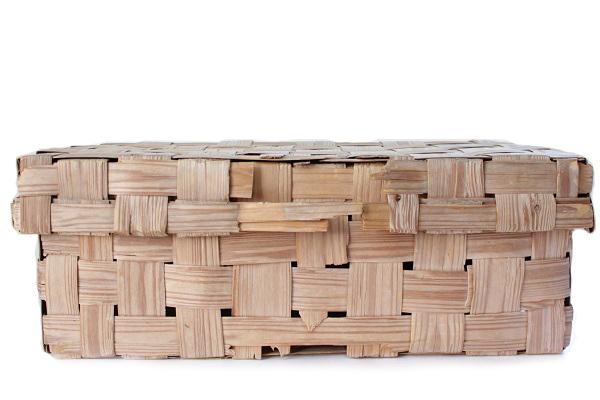 北欧ビンテージ バスケット    モミの木 収納かご 特大 / フィンランド