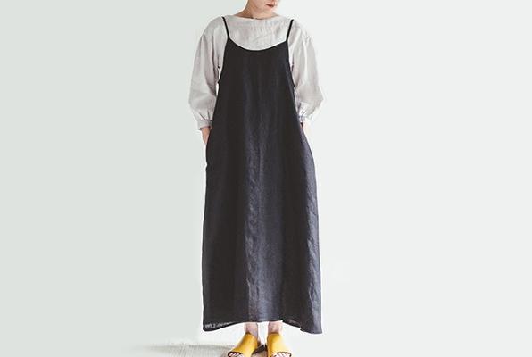 fog linen work       パイパーワンピース / ブラック
