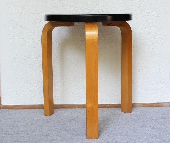artek 60 stool           60スツール ビニールレザー(ブラック)/1950-60's