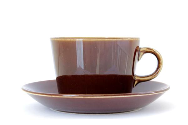 ARABIA Kilta            コーヒーカップ&ソーサー/220 ml (ブラウンCS1)