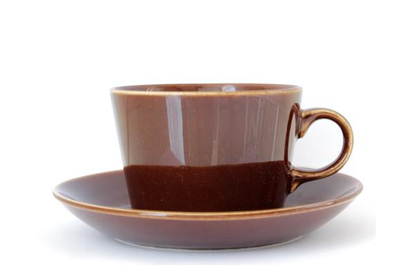 ARABIA Kilta            コーヒーカップ&ソーサー/220 ml (ブラウンCS2)