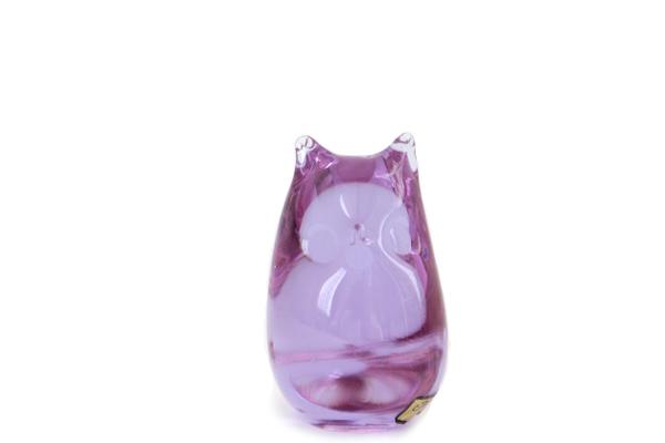 Mantorp glasbruk          小さなフクロウ / ガラス製品 (パープル)