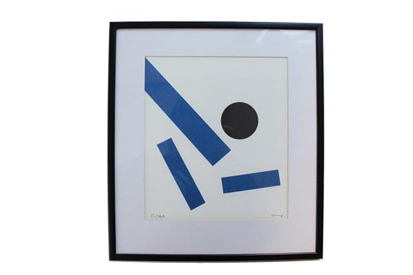 Bengt Orup ベングト・ウルップ          リトグラフ デザイン / ブルー