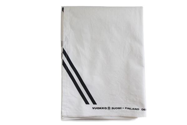 北欧ヴィンテージ         Vuokko ファブリック 142cm×156cm /Harva Metsa2 白×黒