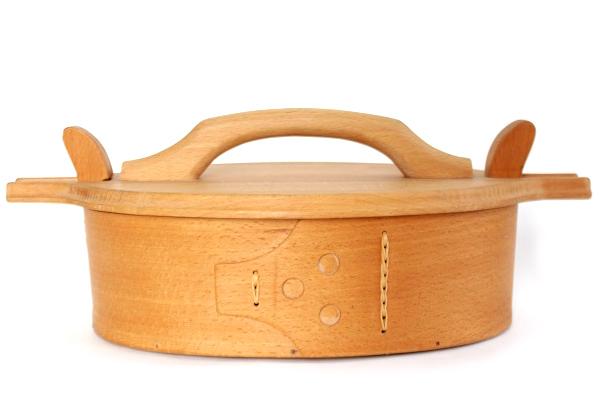 北欧ビンテージ ボックス    曲木のボックス/ 補修あり