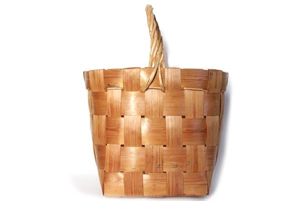 北欧ビンテージ バスケット    モミの木バスケット M / スウェーデン