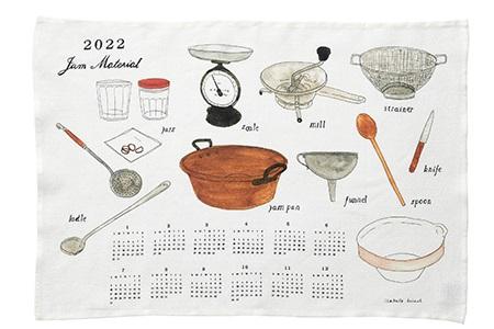キッチンクロス        カレンダークロス 2022年 Jam / fog linen work