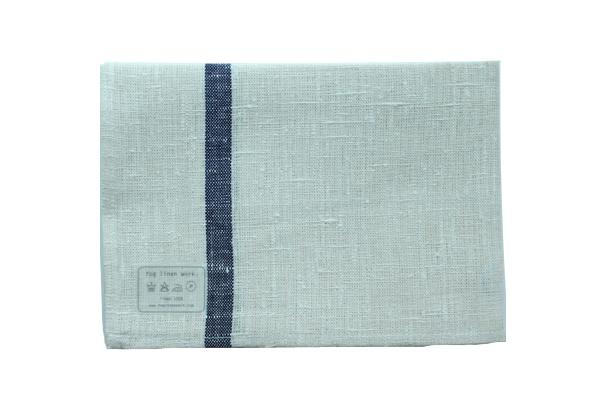 キッチンクロス(厚地) ネイビーライン / fog linen work