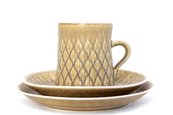 Relief レリーフ           コーヒーカップ&ソーサー 200mlとCakeプレート16.5cmのセット/No.1