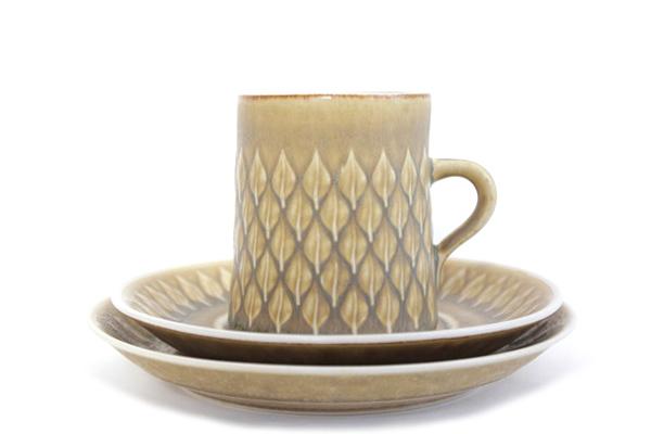 Relief レリーフ           コーヒーカップ&ソーサー 200mlとCakeプレート16.5cmのセット/No.2