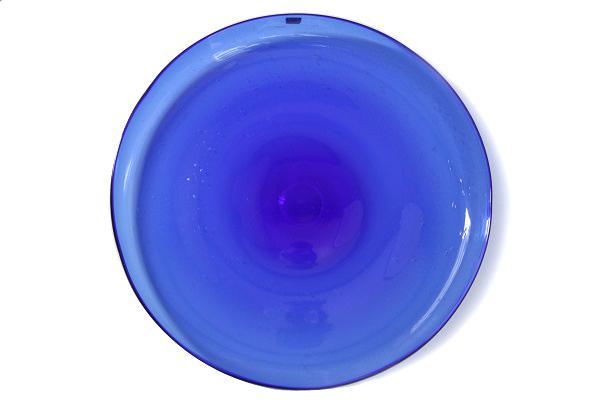 Erik Hoglund            大きな飾りプレート 35cm(ブルー)