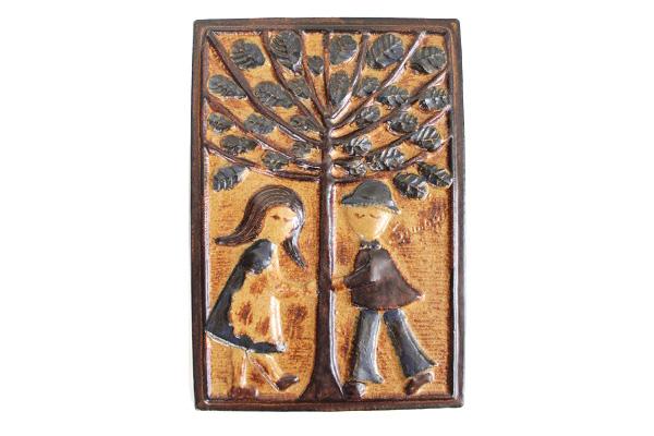 Soholmスーホルム      陶板( 樹の下のカップル) / Joseph Simon
