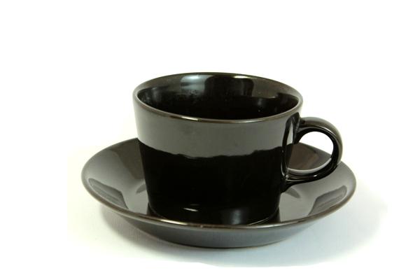 ARABIA Kilta            カップ&ソーサー(ブラック)