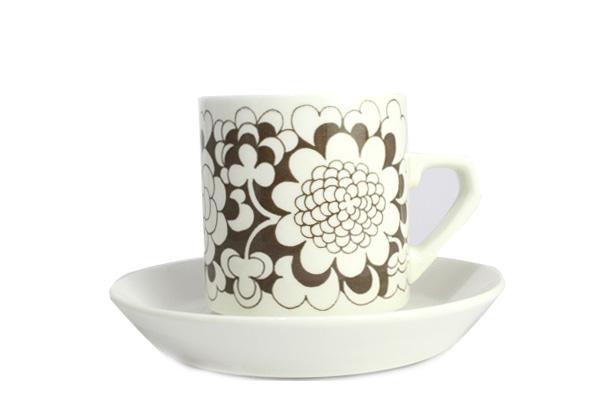 ARABIA gardenia           カップ&ソーサー(ブラウン A1)
