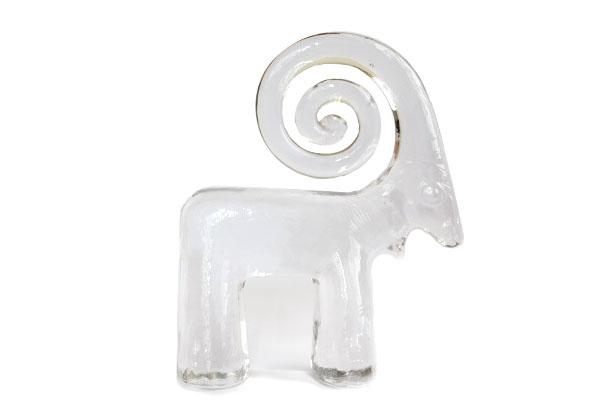 Kosta Boda           巻きツノのヒツジ/ガラス製品