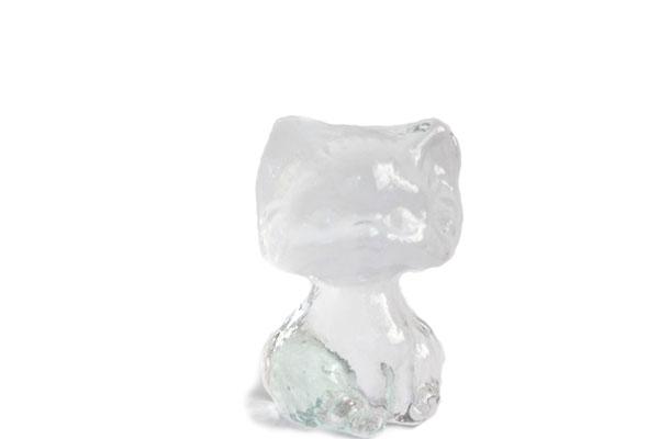 ガラスのネコ/Eda Kristall glass