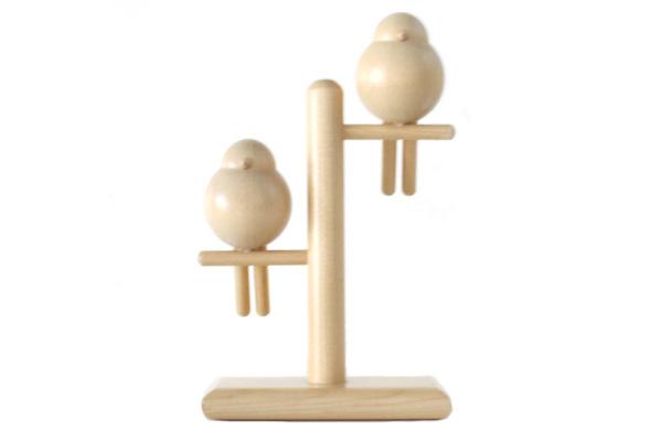 aarikka アーリッカ          鳥のオブジェ / 木製