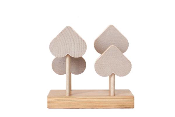 aarikka アーリッカ          スペード(ハート)のナプキンホルダー / 木製