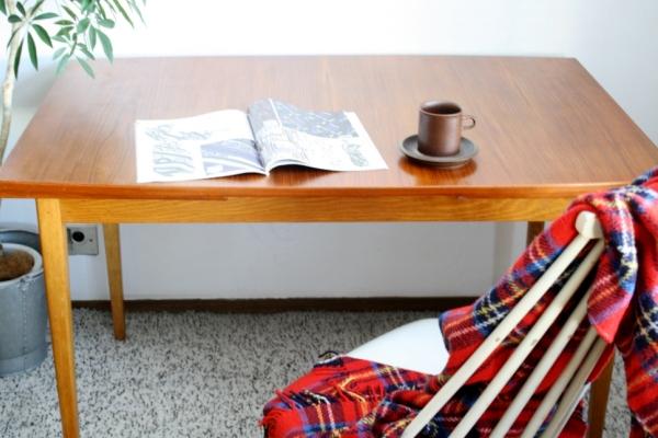 Dining Table (extension) ダイニングテーブル(エクステンション) / スウェーデン 1960~70's(送料ランクD)