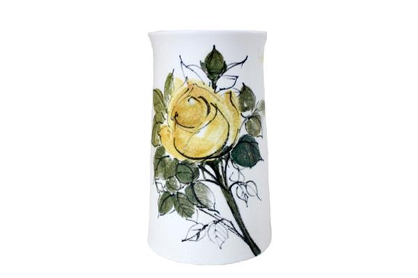 ARABIA アラビア         H.L.A /  花瓶(黄色い花) 少B
