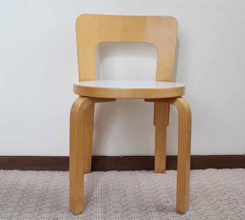 Alvar Aalto / No.65子供用 (送料込)   座面ホワイトリノリウム