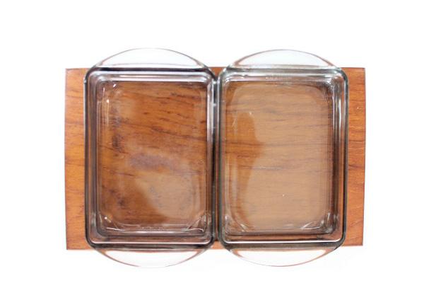 北欧ビンテージ トレイ&ガラス容器       KJENI チェニ T5