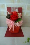 和風赤陶器赤薔薇プリザ