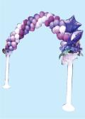 祝バルーンアーチ花紫