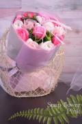 フレグランスソープフラワー ローズブーケ ピンク