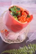 フレグランスソープフラワー ローズブーケ オレンジ