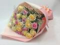 【全国送料無料】バラ パステルピンクイエロー系花束