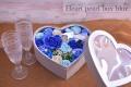 フレグランスソープフラワー ハートパールBOX ブルー