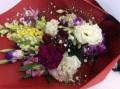 【全国送料無料】カーネーション トルコ桔梗キンギョソウ 白紫系花束
