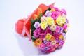 【全国送料無料】バラ カラフル100本 花束 【要予約商品】