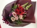 【全国送料無料】ガーベラ カーネーション 赤ピンク系花束