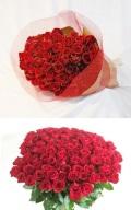 「本数選べます」プロポーズに最適 バラ 赤108本 豪華 花束