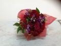 【全国送料無料】ダリア バラ 赤系 花束