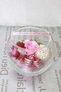 グラスローズ ピンク薔薇プリザ