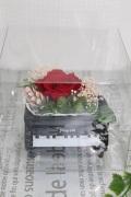ブラックピアノ赤バラプリザ